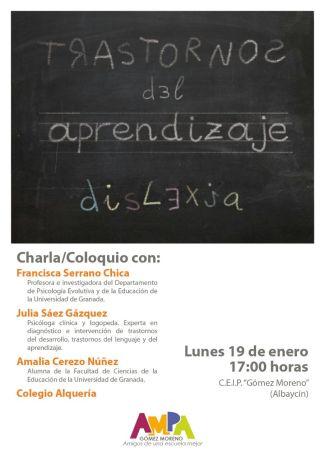 Charla-coloquio sobre dislexia